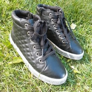 Justice  Black Sneaker Size 3